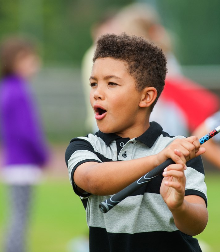 Boy holding StreetGolf Club