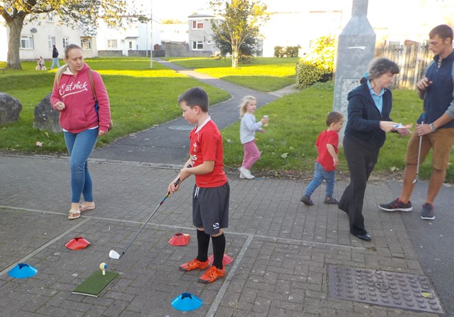 Bridgend Youngsters play StreetGolf