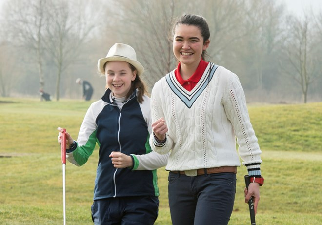 Girls from the Essex Girls Golf Rocks project