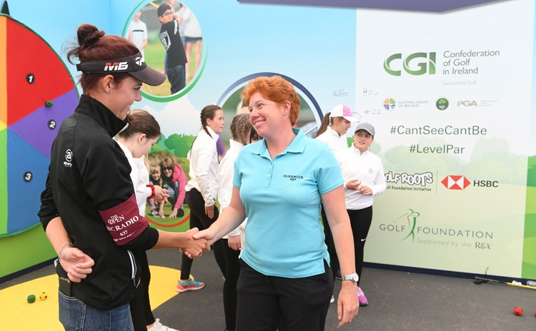 Meghan and Felicity shake after  Tri-Golf.JPG