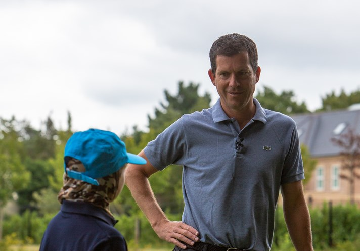 Tim Henman at Frilford Heath
