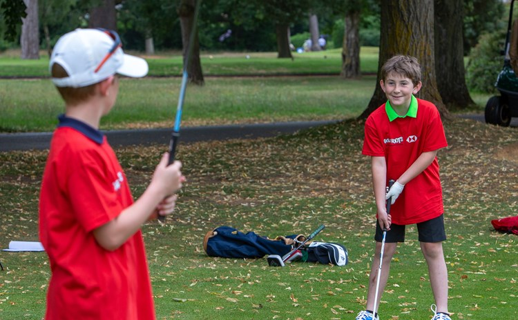 Boys golfing at Frilford Heath GC