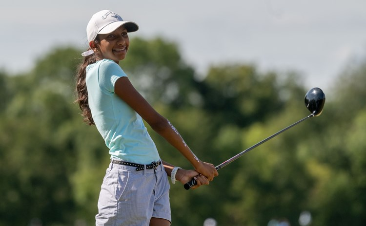 Girl Golfer by Leaderboard Photography